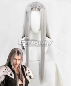 Final Fantasy VII Remake FF7 Sephiroth Silver Cosplay Wig