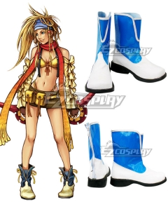Final Fantasy X-2 FF10-2 Rikku White Blue Cosplay Shoes