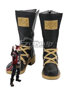 Final Fantasy XIV 5.3 G'raha Tia Black Shoes Cosplay Boots
