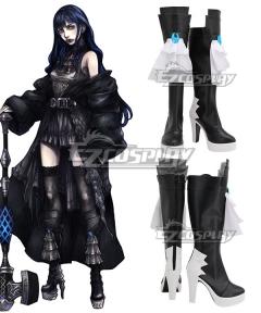 Final Fantasy XIV Shadowbringers 5.0 FF14 Boss Gaia Black Shoes Cosplay Boots