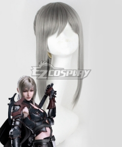 Final Fantasy XV FF15 Aranea Highwind Silver  Cosplay Wig