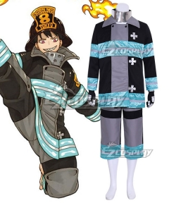 Fire Force Enen no Shouboutai Shinra Kusakabe Battle Suit Cosplay Costume