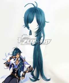 Genshin Impact Kaeya Blue Cosplay Wig