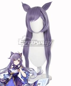 Genshin Impact Keqing Purple Cosplay Wig