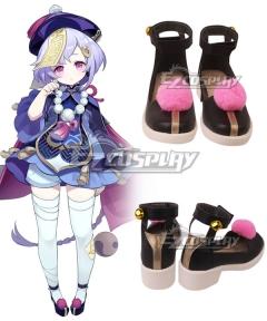 Genshin Impact Qiqi Black Cosplay Shoes