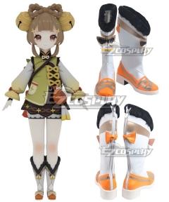 Genshin Impact Yaoyao White Shoes Cosplay Boots