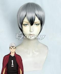 Haikyuu!! Season 4 Haikyuu!!: To the Top Shinsuke Kita Grey Cosplay Wig