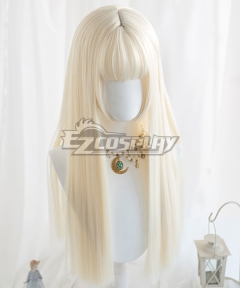 Japan Harajuku Lolita Series Light Golden Long Cosplay Wig