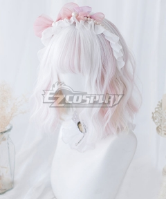 Japan Harajuku Lolita Series Unicorn Ice Cream White Cosplay Wig