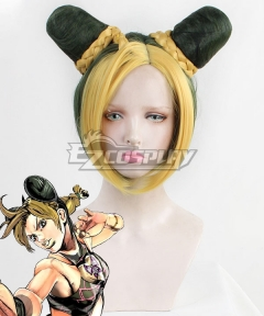 JoJo's Bizarre Adventure Jolyne Cujoh Golden Green Cosplay Wig