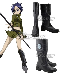 Katekyo Hitman Reborn! Chrome Dokuro Black Shoes Cosplay Boots