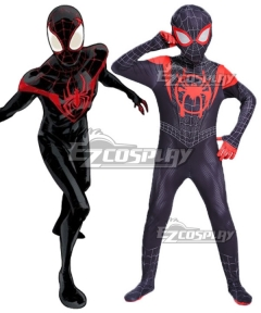 Kids Spiderman Marvel Spider-Man: Into The Spider-Verse Miles Morales Cosplay Costume