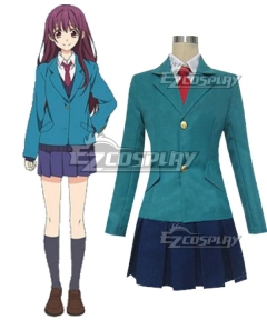 US SHIP Anime Blue Future Japan Party Cosplay Costume Dress Uniform