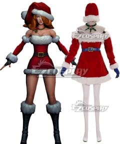 League of Legends LOL Candy Cane Miss Fortune Christmas Cosplay Costume
