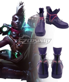 League of Legends LOL Ekko Purple Cosplay Shoes