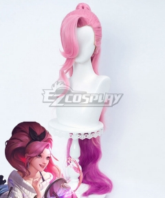 League Of Legends LOL K/DA ALL OUT Seraphine Indie Pink Cosplay Wig