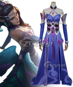 League of Legends LOL Morgana MajesticEmpressSkin Cosplay Costume