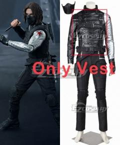Marvel Captain America The Winter Soldier James Buchanan Bucky Barnes Cosplay Costume - Only Vest