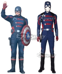 Marvel The Falcon and the Winter Soldier Steven Rogers Captain America Cosplay Costume