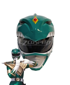 Mighty Morphin Power Rangers Green Ranger Helmet Cosplay Accessory Prop