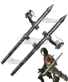 Attack On Titan Shingeki No Kyojin Final Season Mikasa Ackerman Thunder Spears Cosplay Weapon Prop
