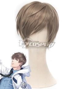 Mr Love: Queen's Choice Evol x Love Gavin Bai Qi Haku Brown Cosplay Wig