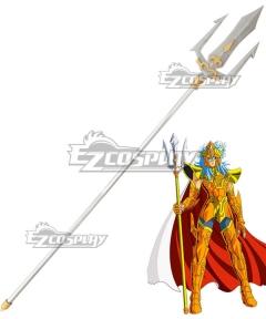 Saint Seiya Poseidon Julian Solo Trident Cosplay Weapon Prop