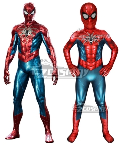 Kids PS4 Spider-Man Spider man armour-MK IV Zentai Jumpsuit Cosplay Costume