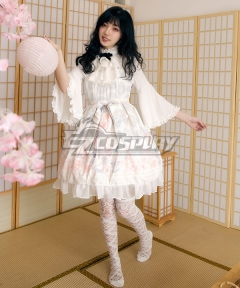 Sweet Lolita JSK Candlelight Whisper White Suspender Dress Jumper Skirt Lolita Dress
