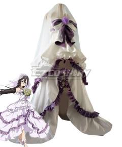Sword Art Online Code Register ALfheim Online SAO ALO Konno Yuuki Wedding Dress Cosplay Costume