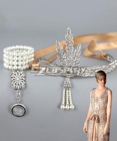 The Great Gatsby Daisy Buchanan Headwear Jewelry Cosplay Accessory Prop