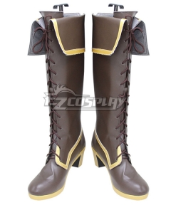 Touhou Project Tenshi Hinanai Brown Shoes Cosplay Boots