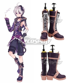 Vocaloid 3 Flower Male Purple Shoes Cosplay Boots