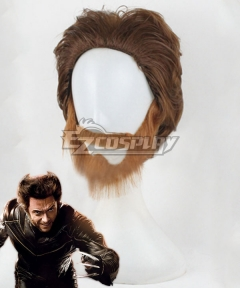 X-Men Origins: Wolverine Wolverine Brown Cosplay Wig