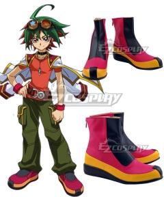 Yu-Gi-Oh! Yugioh ARC-V Yuya Sakaki Red Cosplay Shoes
