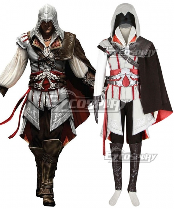 Assassin S Creed 2 Zio Auditore Da Firenze White Cosplay Costume