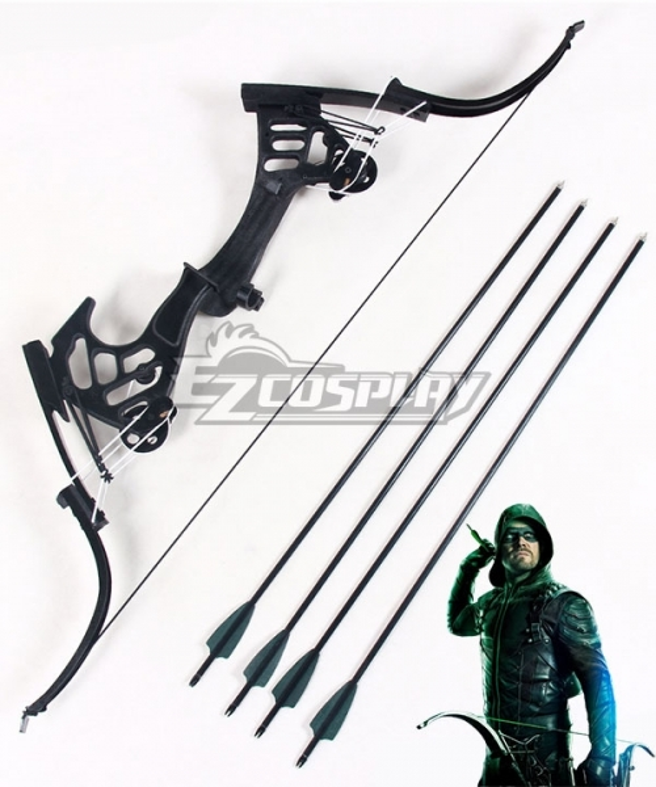 Green Arrow Season 5 PVC Bow And Arrow Cosplay Prop  Customize Made Equipment