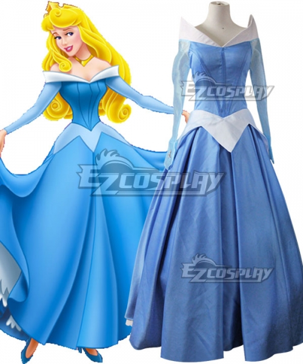Movie Sleeping Beauty Princess Aurora Gorgeous Bule Dress Cosplay Costume