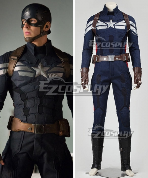 Captain America 2 The Winter Soldier Steve Rogers Uniform Cosplay New Verstion