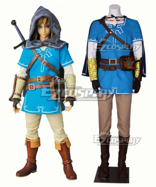 The Legend Of Zelda Breath Of The Wild Link Cosplay Costume New Edition