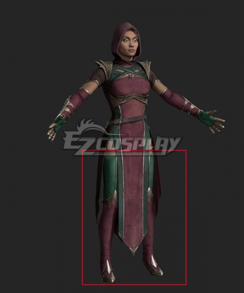 Mortal Kombat 11 Jade Red Green Shoes Cosplay Boots