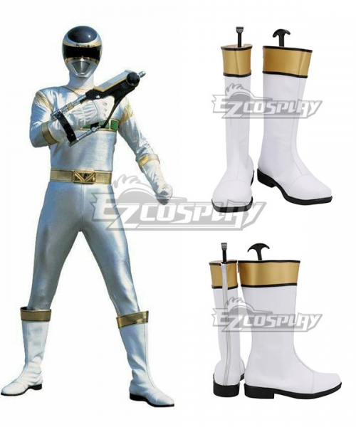 power rangers in space silver space ranger white shoes cosplay boots power rangers in space silver space ranger white shoes cosplay boots