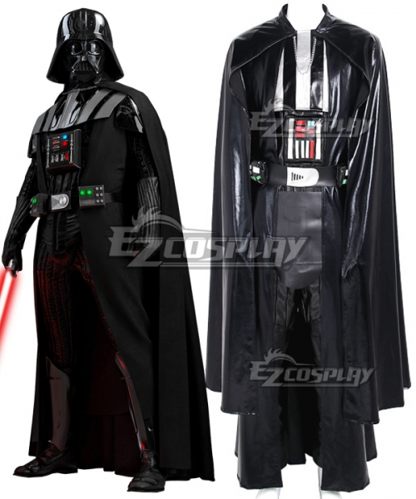 Star Wars Jedi Anakin Skywalker Sith Darth Vader Cape Cosplay Costume Suit Boots