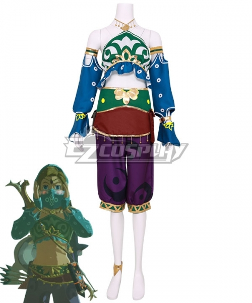 The Legend Of Zelda Breath Of The Wild Female Zelda Link Gerudo Outfit Cosplay Costume
