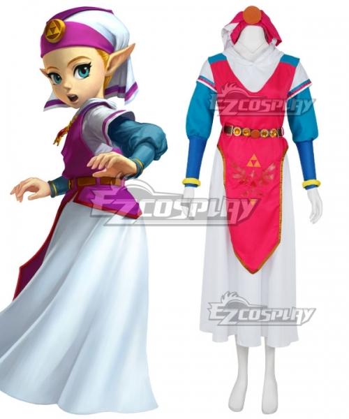 The Legend Of Zelda Ocarina Of Time Princess Zelda Young Zelda Cosplay Costume