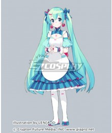 Vocaloid Hatsune Miku Maid Dress Cosplay Costume