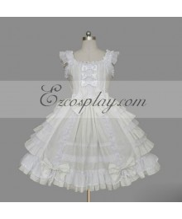 White Gothic Lolita Dress -LTFS0100