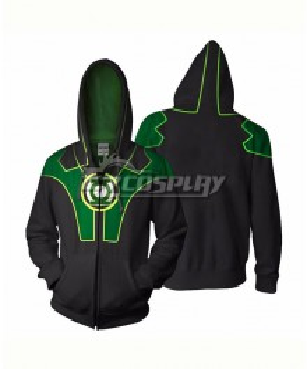 DC Comics Green Lantern Hal Jordan Coat Hoodie Cosplay Costume
