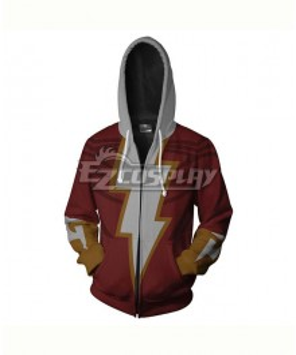DC Comics Shazam Billy Batson Coat Hoodie Cosplay Costume
