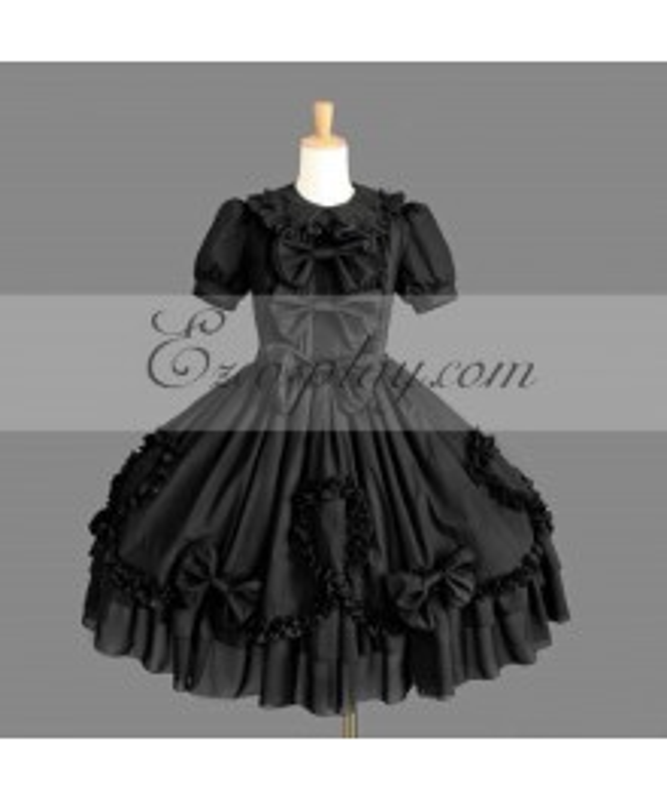 Black Gothic Lolita Dress -LTFS0116